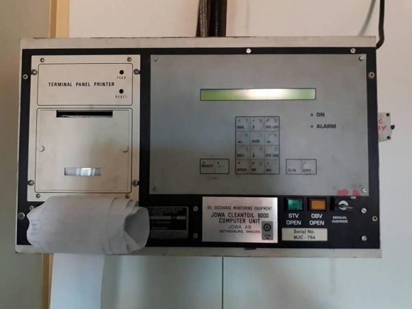 Jowa AB CLEANTOIL 9000 Oil Discharge Monitoring Equipment Computer Unit